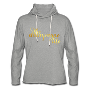 The Champagne Life Lightweight Hoodie - heather gray