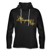 The Champagne Life Lightweight Hoodie - charcoal gray