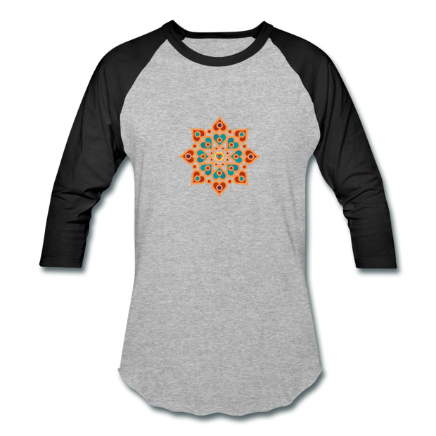 bronzeHIPPIE Logo Raglan T-Shirt - heather gray/black