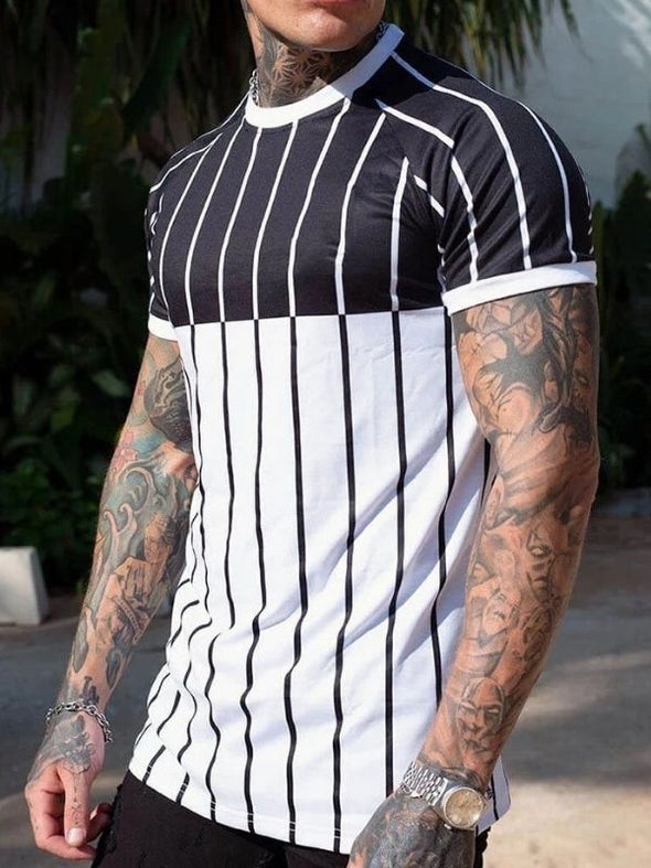 Men's striped gradient top