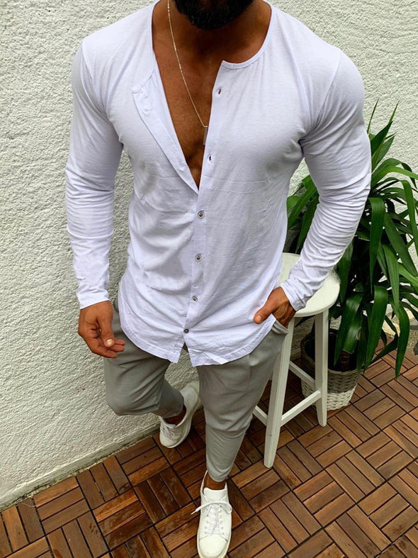 Casual simple single-breasted T-shirt cardigan