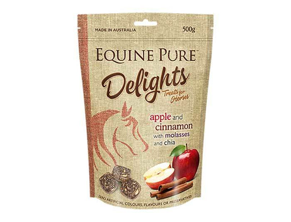 Equine Pure Delights 500g Pouch - Apple & Cinnamon
