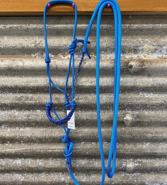Ropes By Psycho Braided 6mm Halter Lead Set - Blue