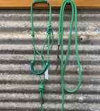 Ropes By Psycho Braided 6mm Halter & Lead Set - Green
