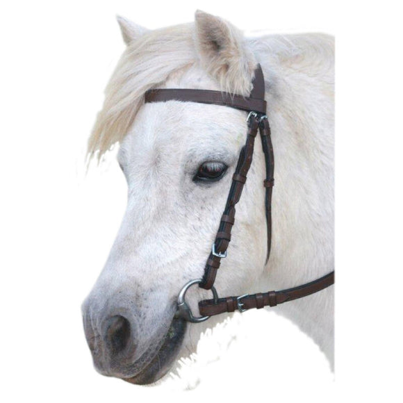 Eureka Plain Snaffle Bridle - Brown
