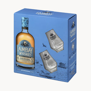 Load image into Gallery viewer, LAMBAY WHISKEY SMALL BATCH BLEND 40° w/ 2 glasses