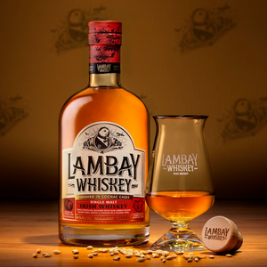 Load image into Gallery viewer, LAMBAY WHISKEY SINGLE MALT 40° 70CL - LAMBAY WHISKEY