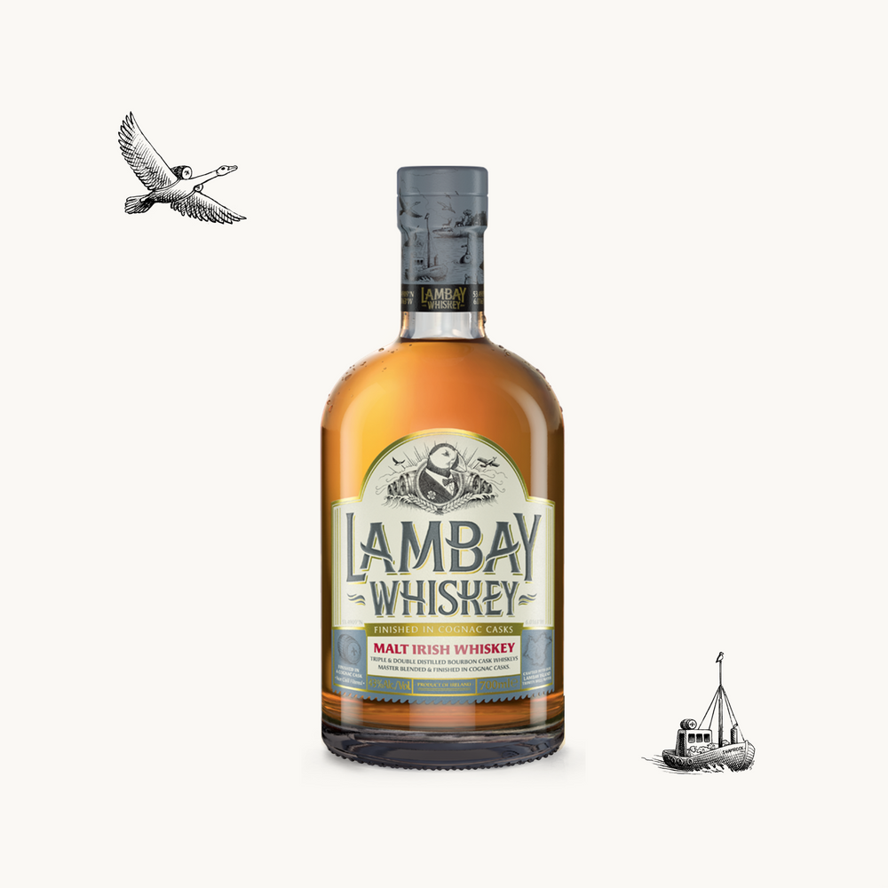 LAMBAY MALT IRISH WHISKEY 43° 70CL - LAMBAY WHISKEY