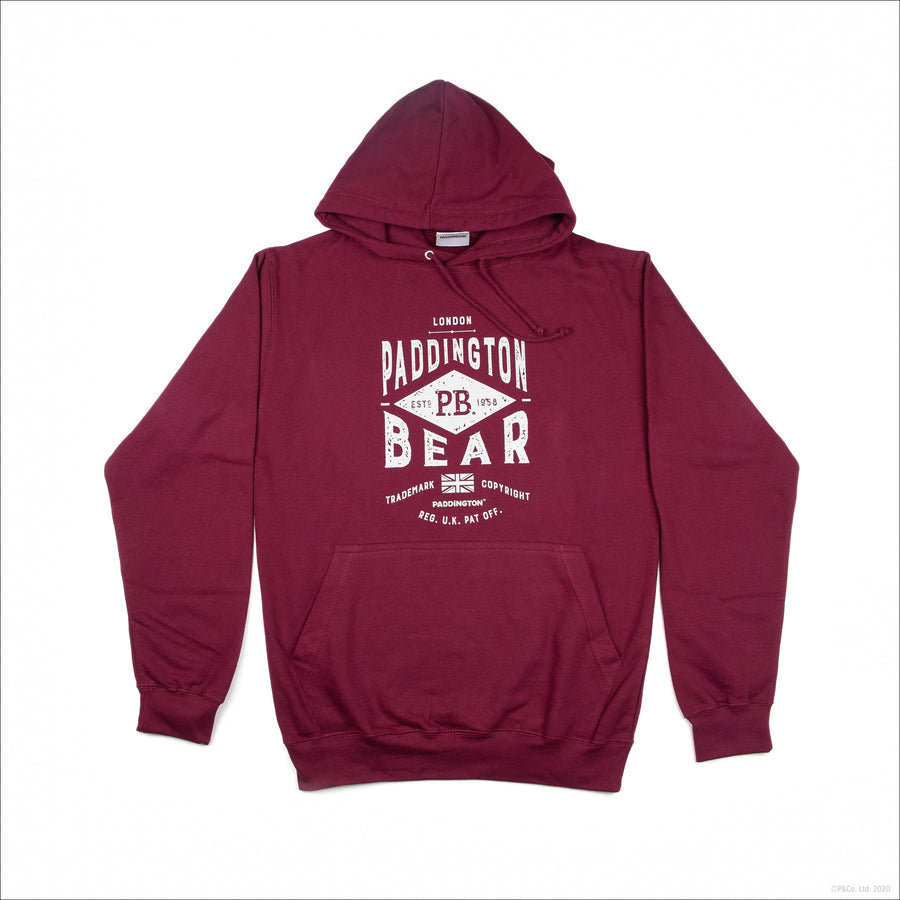 Paddington Adult Hoodie - Burgundy