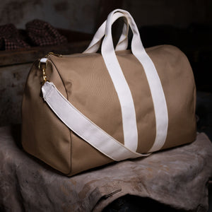 Duffel Bag – Khaki/White