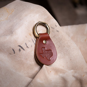 """If Lost Return Here"" Key Ring – Brown"