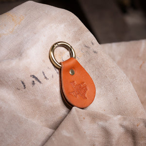 """If Lost Return Here"" Key Ring – Tan"