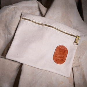 Zipper Bag – Natural Canvas