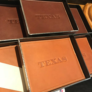 Texas Steel and Leather Valet Tray – Brown