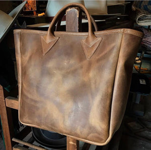All Leather Tote Bag