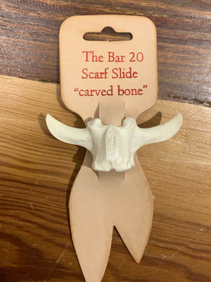 Bar 20 Scarf Slide Carved Bone