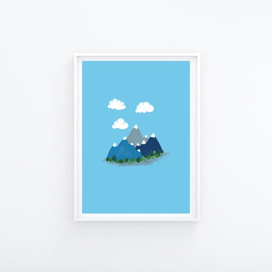 Blue Mountain A4 Print - Folk Like These