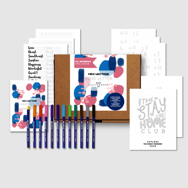 Brush Calligraphy Kit - Folk Like These
