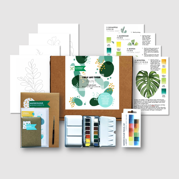 Houseplant Watercolour Kit - Folk Like These
