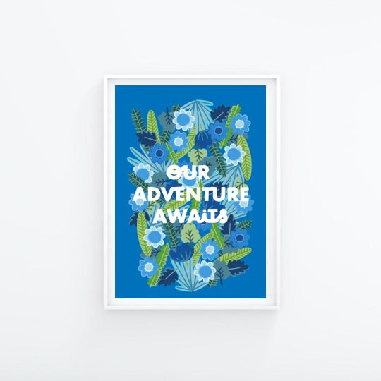 Our Adventure Awaits A4 Print - Folk Like These