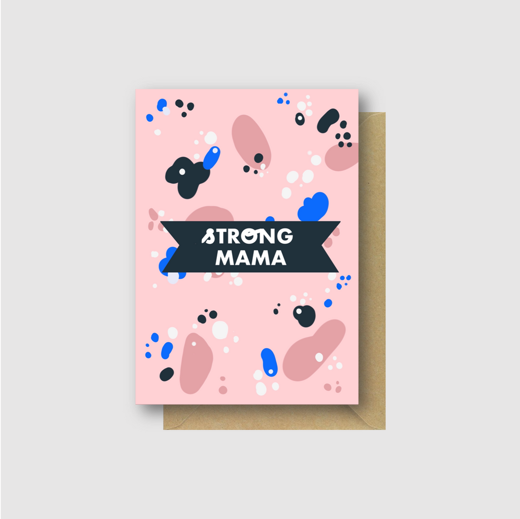 Strong Mama Greetings Card - Folk Like These