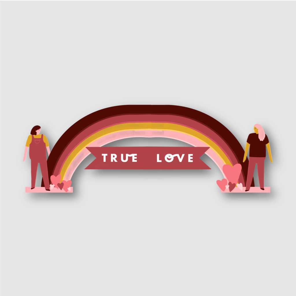 True Love Couples Card - Folk Like These