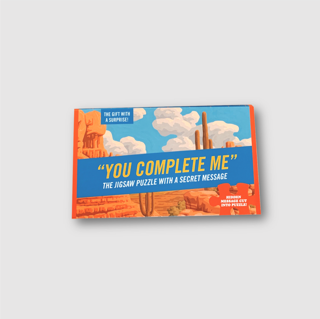 You Complete Me Hidden Message Jigsaw Puzzle - Folk Like These