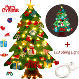 DIY Felt Christmas Tree New Year'S Door Wall Hanging Ornaments Artificial Tree Kids Toys Christmas Decoration For Home Party