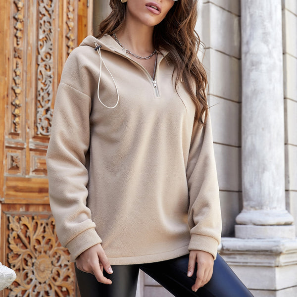 Oversize Hoodies Women 2021 Autumn Winter Female Loose Casual Pullover Hoodied Solid Color Hoodies Sweatshirts Tops#g30