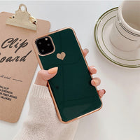 Electroplated Heart Phone Case for iPhone