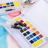 12-36 Colors Watercolor Paints Set with Water Color Brush - zotmo