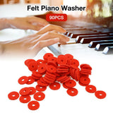 90PCS 1MM/2MM Felt Piano Washers Piano Repair Tool Parts Felt Ring Pad Woollen Washers Piano Tuning Accessories - zotmo