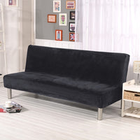 plush folding sofa bed cover velvet thick slipcover case for armless sofa bed sheet Couch cover Elastic Futon Cover winter