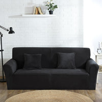 High Quality Velvet Plush Sofa Cover for Living Room Sectional Couch Cover Elastic Case Sofa Slipcover Stretch 1/2/3/4 Seater