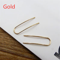 New Fashion Minimalist Punk Simple Bijoux Stick U Shape Geometric Stud Earrings For Women  Fine Jewelry Brincos Summer