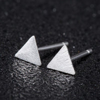 Minimalist Silver Color Small Earings Simple Geometric Stud Earrings for Women Tiny Ear Studs Pendientes Birthday Jewelry Gift