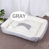 Bone Pet Bed Warm Pet bed linen For Small Medium Large Dog Soft Pet Bed For Dogs Washable House For Cat Puppy Cotton Kennel Wash