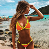 Bikini 2020 New Summer Solid Bikini Set Low Waist Swimwear Women Brazilian Bathing Suit Sexy Swimsuit Female Brazilian Biquini