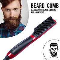 Hair Beard Straightener Hot Comb Ceramic Straightening Styler Irons Electric Multifunctional Brush Volumizing Hair Straightener