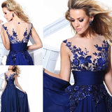 2020 New Arrival Heavy Appliques Evening Dress Long Charming Sleeveless Hollow Out A line Formal Party Dress with Beading