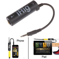 Guitar Interface I-Rig Converter Replacement Guitar For Phone Guitar Audio Interface Guitar Tuner Guitar Line Irig Converter - zotmo