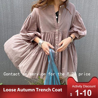Japanese Fresh Ladies Blouse Loose Casual Street Wear Shirts Korean Style Solid Women Tops 2020 Fall Fashion Nine Points Sleeve