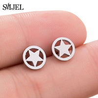 Multiple Stainless Steel Ballet Earrings for Women Girls Fashion Minimalist Umbrella Eye Flower Star Heart Earings Jewelry Gifts
