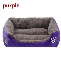 S-3XL Candy Color Pet Claw Sofa  Bed Waterproof Soft Bottom Polar Fleece Warm Domestic Cat Bed