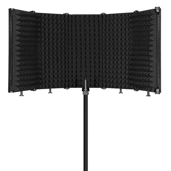 Foldable Adjustable Sound Absorbing Vocal Recording Panel Portable Acoustic Isolation Microphone Shield Sound-proof Plate - zotmo