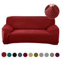 Solid Color Elastic Sofa Slipcovers Stretch Sofa Covers For Living Room Furniture Protector Armchair Couch Cover Elastic