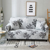 Elegant Modern Sofa Cover Spandex Elastic Polyester Floral 1/2/3/4 Seater Couch Slipcover Chair Living Room Furniture Protector