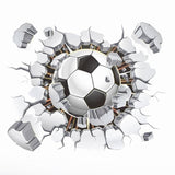 VODOOL 15*12cm 3D Effect Football Soccer Ball Car Auto Body Rear Windshield Styling Sticker Room Wall Sticker Decal Removable - zotmo