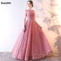 Real Photos 2018 New Arrivals Luxury Elegant Long A Line Evening Dresses prom Party Gowns Formal Robe De Soiree
