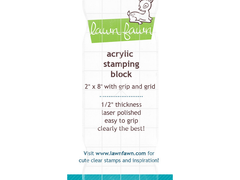 "Lawn Fawn 2""x8"" Grip Acrylic Stamp Block with Grid"